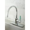 <strong>Kingston Brass</strong> Green Eden Single Lever Handle Kitchen Faucet with Deck Plate