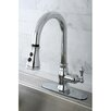 Kingston Brass American Classic Gourmetier Single Handle Kitchen Faucet with Pull Down Spout