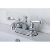 <strong>Kingston Brass</strong> Royale Double Handle Centerset Bathroom Faucet with Brass Pop-Up Drain
