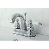 Kingston Brass Restoration Double Handle Centerset Bathroom Sink Faucet with ABS Pop-Up Drain