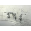 Kingston Brass Magellan Double Handle Widespread Bathroom Faucet with ABS Pop-Up Drain