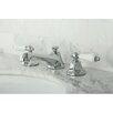 Kingston Brass Metropolitan Double Handle Widespread Bathroom Faucet with Brass Pop-up