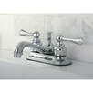 <strong>Kingston Brass</strong> English Vintage Double Handle Centerset Bathroom Faucet with ABS Pop-Up Drain