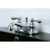 <strong>Kingston Brass</strong> Restoration Double Handle Centerset Bathroom Sink Faucet with ABS Pop-Up Drain