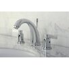 Kingston Brass NuVo Fusion Double Handle Widespread Bathroom Sink Faucet with Brass Pop-up