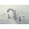 <strong>Kingston Brass</strong> NuWave French Double Handle Widespread Bathroom Sink Faucet with Brass Pop-up