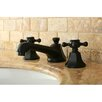 Kingston Brass Metropolitan Double Handle Widespread Bathroom Faucet with Brass Pop-up