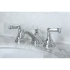 Kingston Brass Royale Double Handle Widespread Bathroom Faucet with Pop-Up Drain
