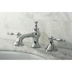 Kingston Brass Naples Double Handle Widespread Bathroom Faucet with Pop-Up Drain