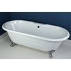 "<strong>Kingston Brass</strong> Aqua Eden 66"" x 30.13"" Freestanding Bathtub"