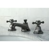 Kingston Brass Water Onyx Double Handle Widespread Bathroom Faucet with Brass Pop-Up Drain