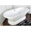 "<strong>Kingston Brass</strong> Aqua Eden 67"" x 31"" Pedestal Bathtub"