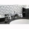 Kingston Brass Restoration Onyx Double Handle Widespread Bathroom Faucet with Pop-Up Drain