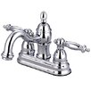 Kingston Brass Templeton Double Handle Centerset Bathroom Faucet with Brass Pop-Up Drain