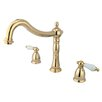 <strong>Kingston Brass</strong> Heritage Double Handle Roman Tub Filler