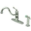 <strong>Kingston Brass</strong> Victorian Single Handle Kitchen Faucet with Non-Metallic Sprayer