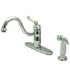 <strong>Kingston Brass</strong> Victorian Single Handle Widespread Kitchen Faucet with Non-Metallic Spray