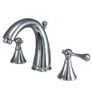 <strong>Kingston Brass</strong> English Country Double Handle Widespread Bathroom Faucet with Brass Pop-Up Drain