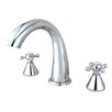 Kingston Brass Roman Double Handle Roman Tub Filler