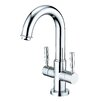 <strong>Kingston Brass</strong> Concord Double Handle Bathroom Faucet with Push-Up and Optional Deck Plate