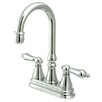 <strong>Kingston Brass</strong> Governor Double Handle Centerset Bar Faucet