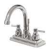 <strong>Kingston Brass</strong> Elinvar Double Handle Centerset Bathroom Faucet with Brass Pop-Up Drain