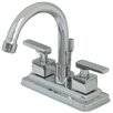 <strong>Kingston Brass</strong> Executive Double Handle Centerset Bathroom Faucet with Brass Pop-Up Drain