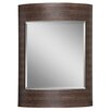 Beveled Mirror in Brown and Dark Brown