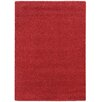 Pantone Universe Focus Red Shag Area Rug