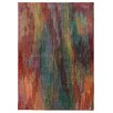 Pantone Universe Prismatic Abstract Red Area Rug