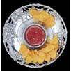 """Arthur Court Designs Grape Round 14"""" Chip and Dip Tray"""