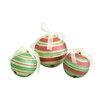 Jeco Inc. 3 Piece Glitter Jingle Bell Ornaments Set