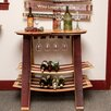 Napa East Collection Barrel Head Tabletop Wine Rack with Glass Sliders