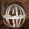 Napa East Collection Wine Hoop 1 Light Globe Chandelier