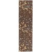 Ottomanson Ottohome Chocolate Leaves Area Rug
