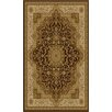 <strong>Ottomanson</strong> Sultan Dark Brown Medallion Rug