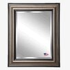 <strong>Rayne Mirrors</strong> Jovie Jane Antique Black and Silver Wall Mirror