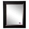 Rayne Mirrors Brown Grain Black Wall Mirror