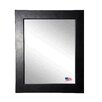 Rayne Mirrors Ava Executive Black Wall Mirror