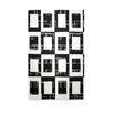 E By Design Decorative Geometric Area White/Black Area Rug