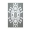 E By Design Decorative Geometric Grey/Light Grey Area Rug