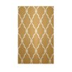 E By Design Decorative Geometric Gold/Tan Area Rug