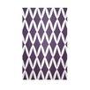 E By Design Decorative Geometric Grape Royale/White Area Rug