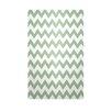 E By Design Decorative Chevron Margarita Green/White Area Rug