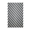 E By Design Decorative Striped White/Black Area Rug