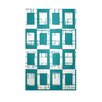 E By Design Decorative Geometric Lake Blue/White Area Rug