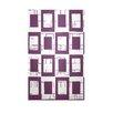 E By Design Decorative Geometric Purple/White Area Rug