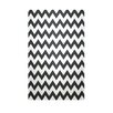 E By Design Decorative Chevron Black/White Area Rug