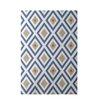 E By Design Decorative Geometric Blue/Taupe Area Rug