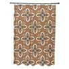 E By Design Flower Power Geometric Shower Curtain